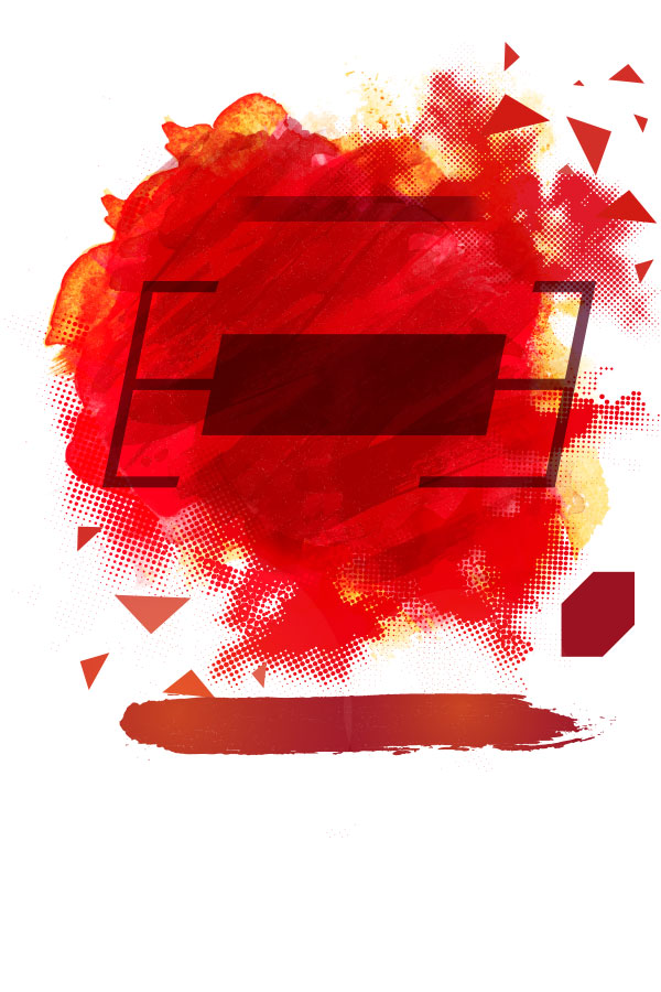 Red ink background map