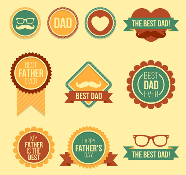 Retro Fathers Day Tags