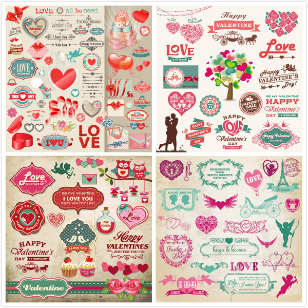 Retro Happy Valentine s Day