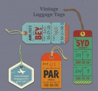 Retro luggage tag