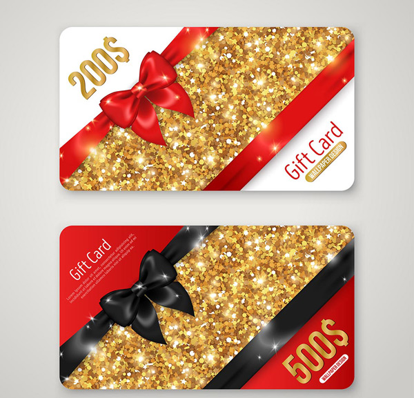 Ribbon particle gift card