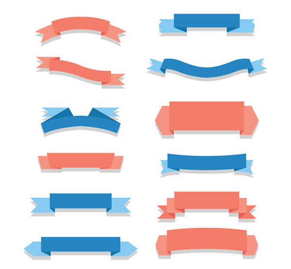 Ribbon scroll vector