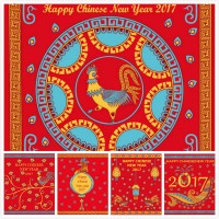 Rooster new year vector