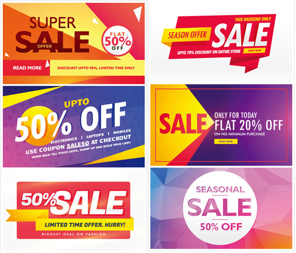 SALE promotional posters