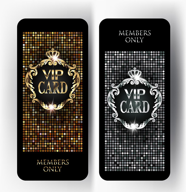 Sequin VIP card