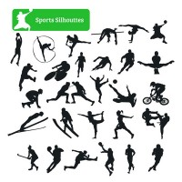 Silhouette of sport characters