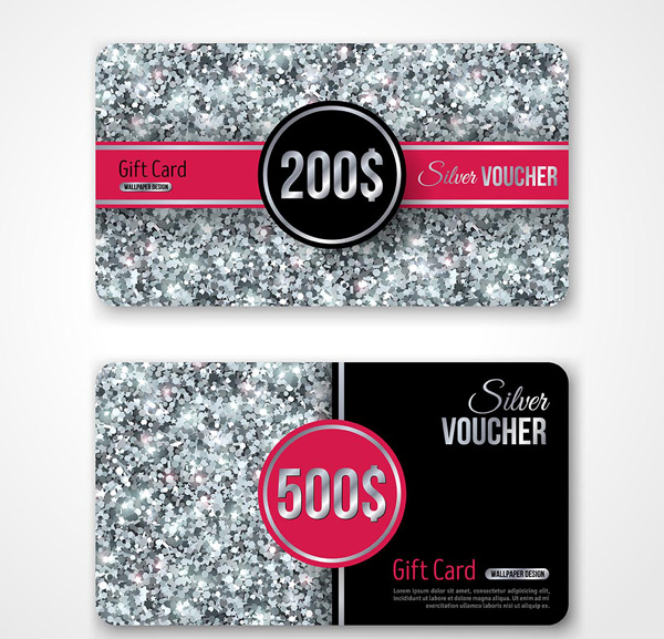 Silver particle gift card