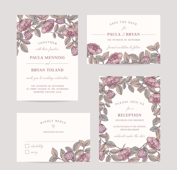 Simple invitation cards
