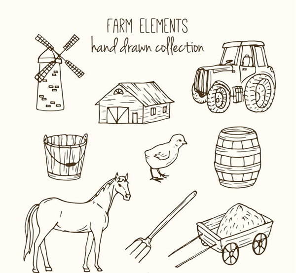 Sketch farm elements
