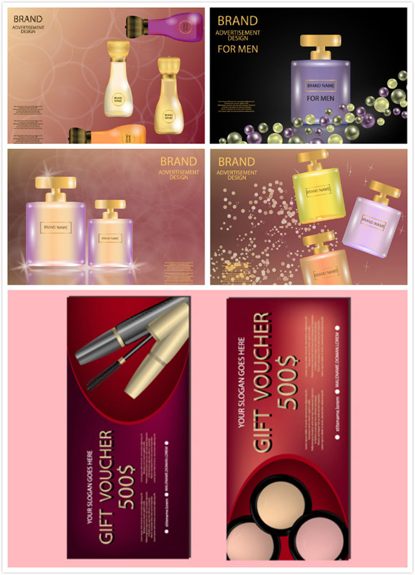 Skin care advertising vector