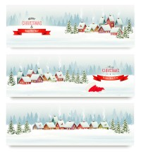 Snow scene Christmas background