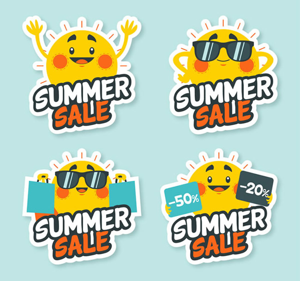 Solar summer promotion label