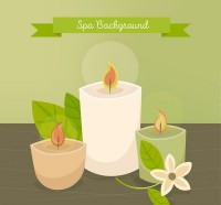 Spa oil candle illustration