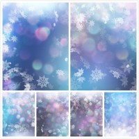 Spot snowflake background