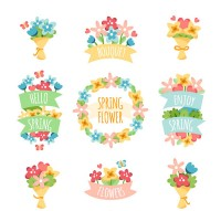 Spring bouquets and garlands