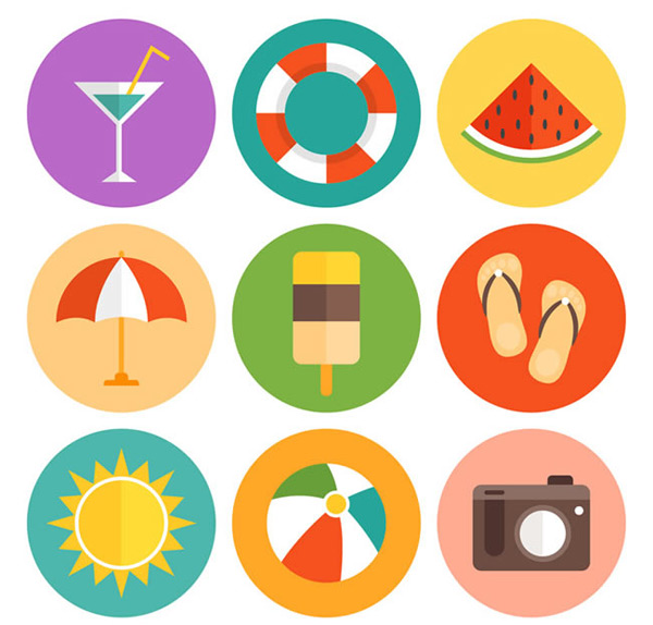 Summer holiday icon