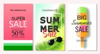 Summer promotional posters