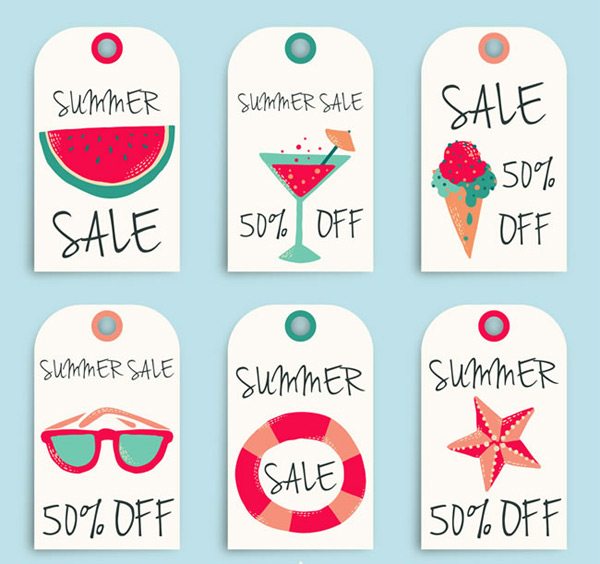 Summer sales tag