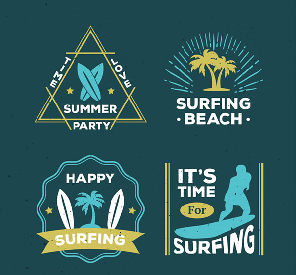 Summer surfing sign