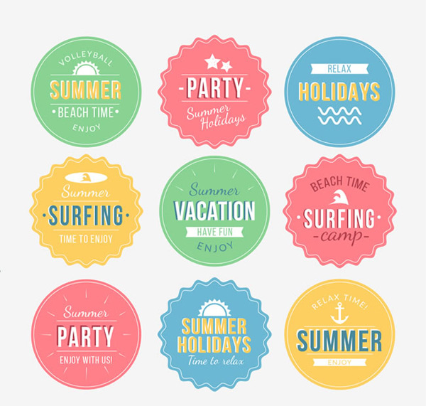 Summer vacation element tags