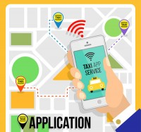 Taxi applications and maps
