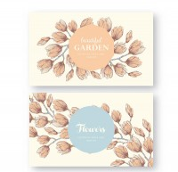 The flower shading invitation cards
