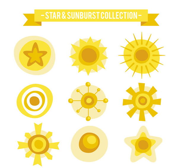 The sun and the stars vector