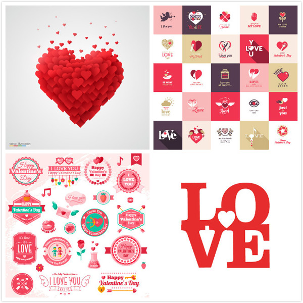 Valentine s Day vector material