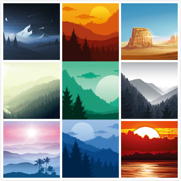 Vector Landscape Material