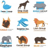 Vector of animal signs