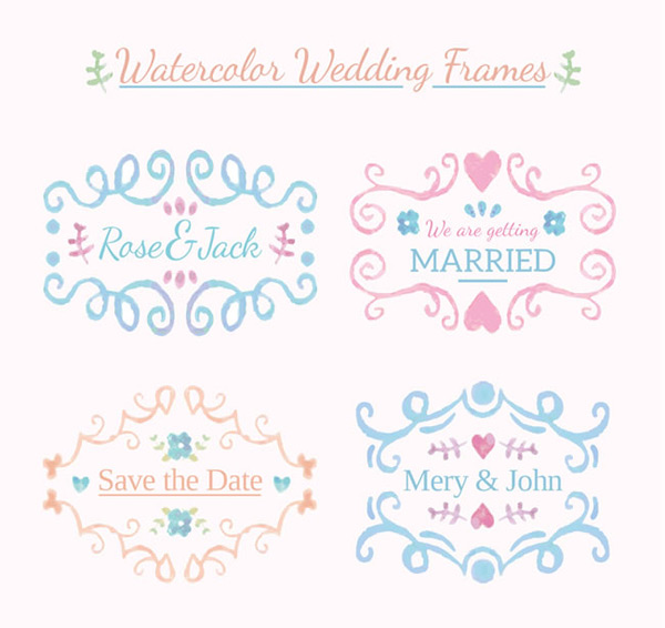Water color pattern border