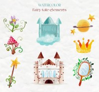 Water painting fairy tale elements