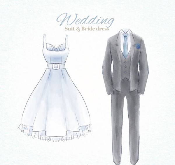 Wedding dresses and gray dresses