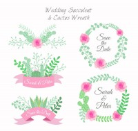 Wedding garlands and labels