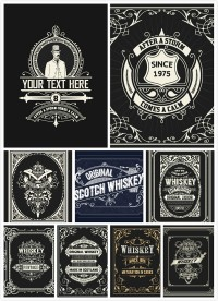 Whisky packaging vector