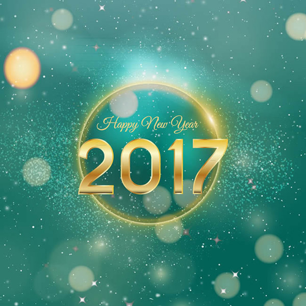 2017 New Year greeting cards