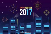 2017 new year night scene
