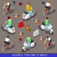 3D characters on cycling