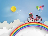 A bicycle on the rainbow