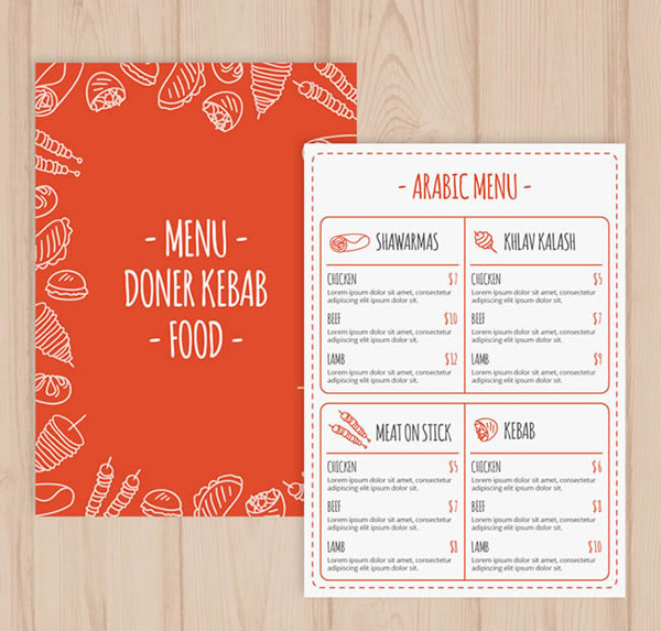 Arabia food menu