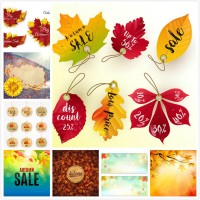 Autumn promotion vector