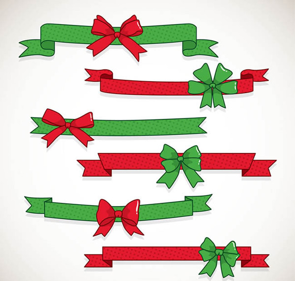 Bow ribbon vector