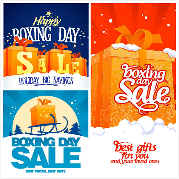 Boxing Day discount Poster