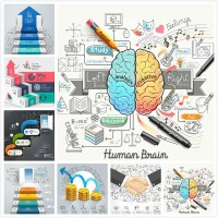 Business chart vector material