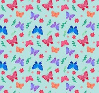 Butterfly and flower background