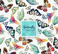 Butterfly seamless background