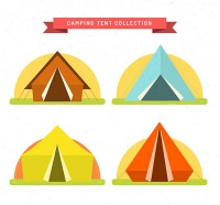 Camping tent in summer