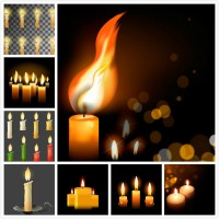 Candle vector material