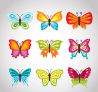 Cartoon color butterfly