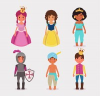 Cartoon fairy tale characters